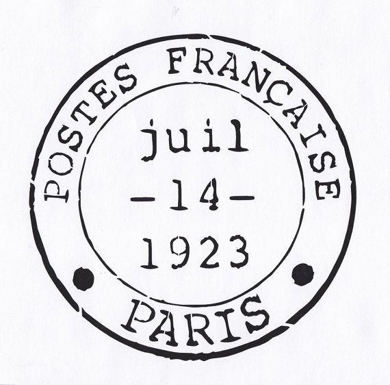 Paris Stencil, French Postmark Stencil, Paris France