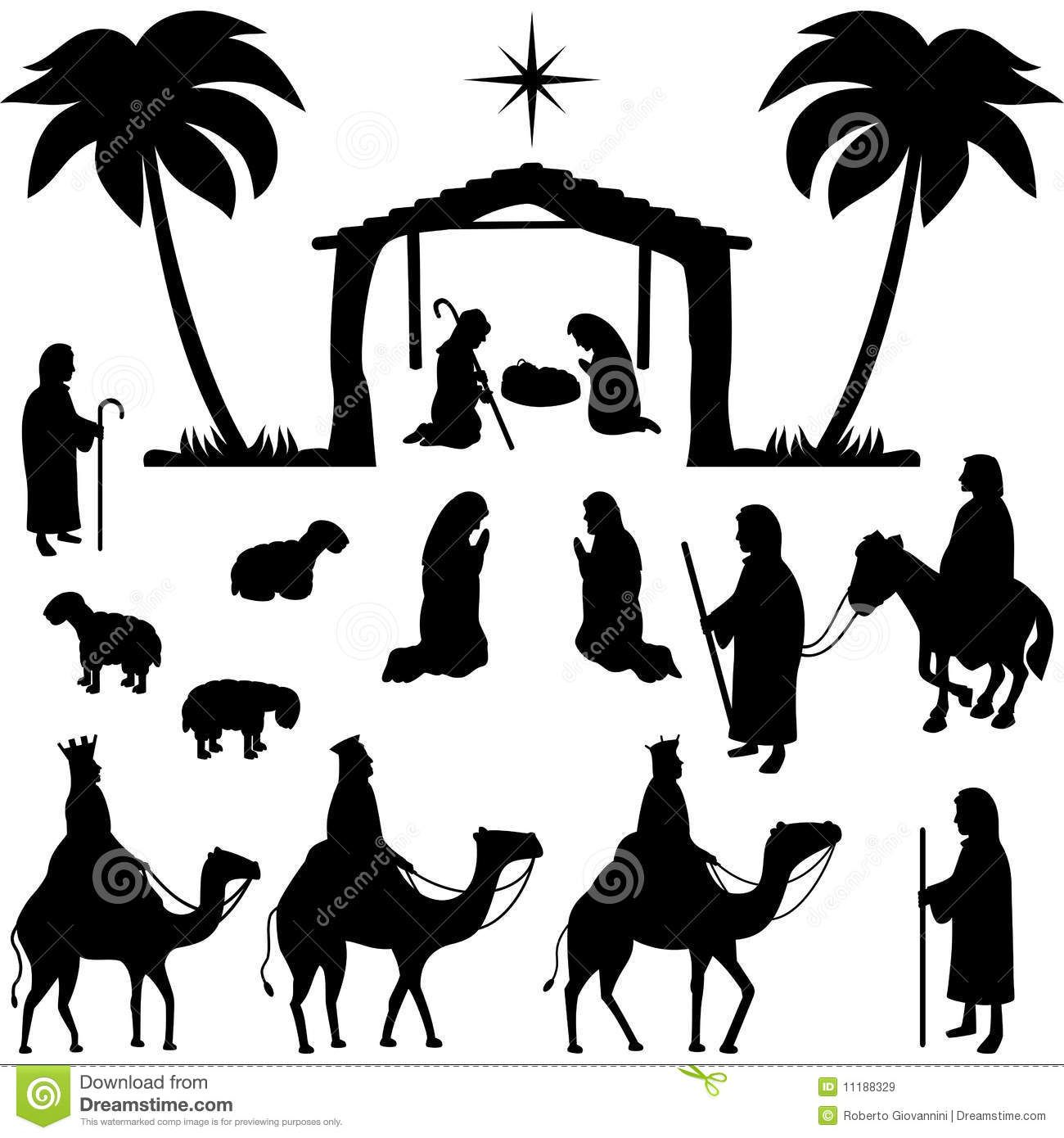 Nativity Silhouettes Collection Download From Over 27