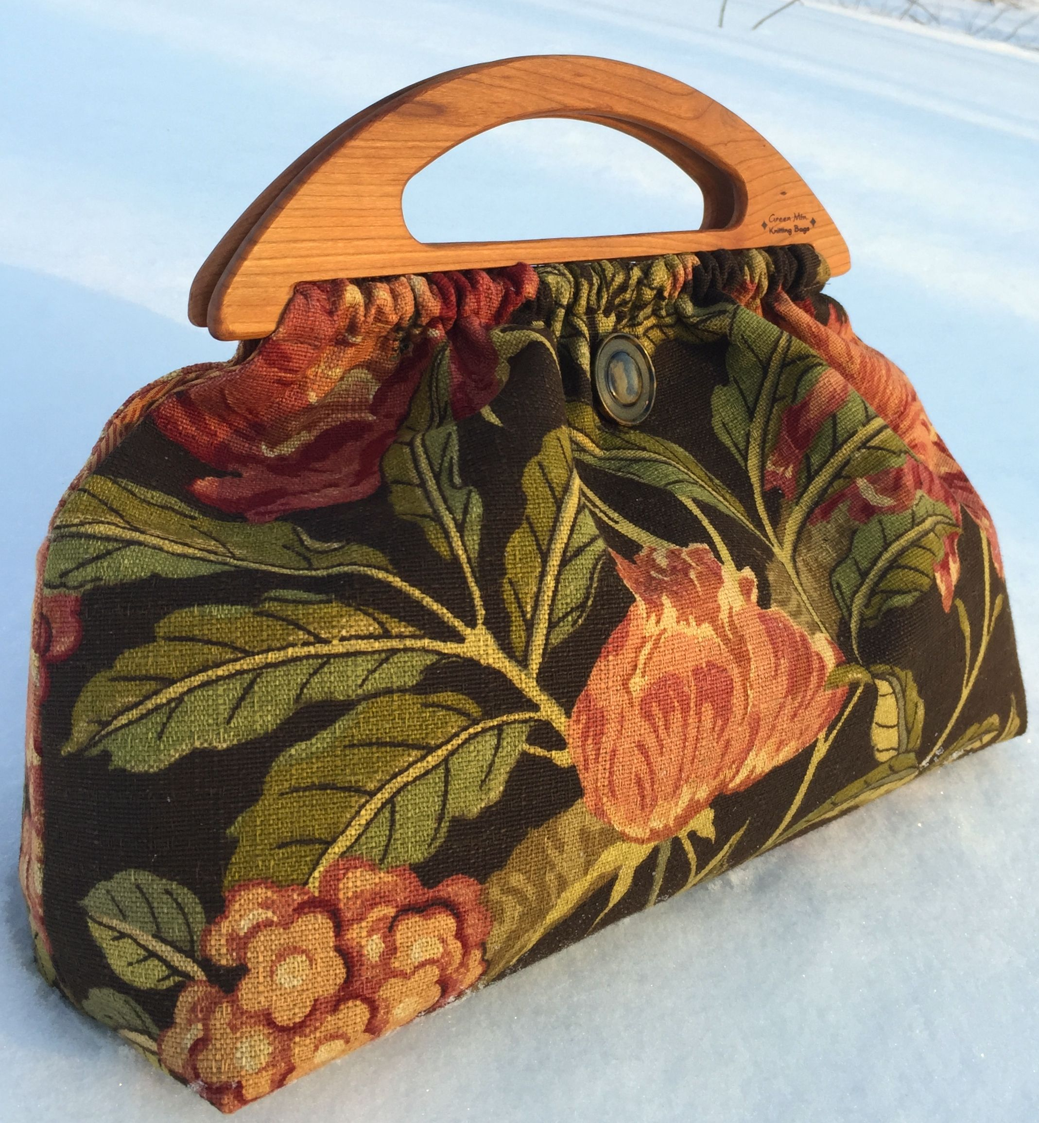 Bag On Snow Knitted Bags Bags Sewing Bag