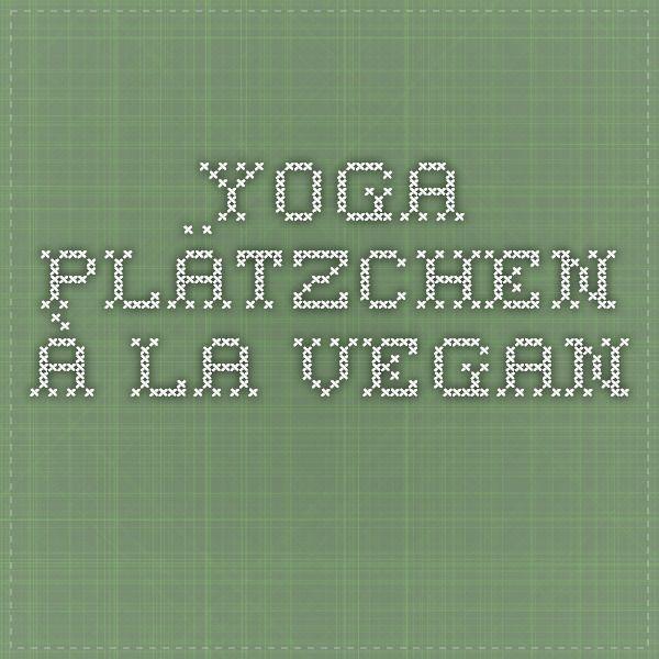 Yoga Plätzchen à la vegan -