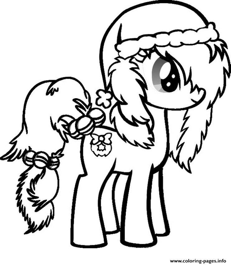 Print My Little Pony Christmas Coloring Pages My Little Pony