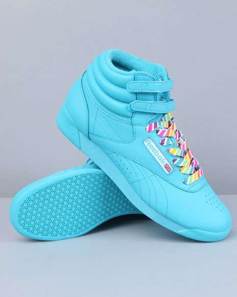 Candy Colored Kicks Reebok Freestyle Reebok Reebok Classic High Tops