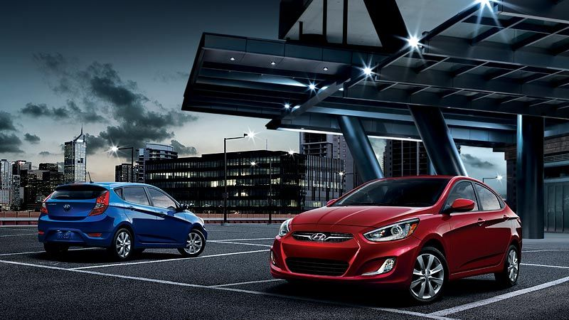 2014 ACCENT IN MARATHON BLUE AND BOSTON RED (With images