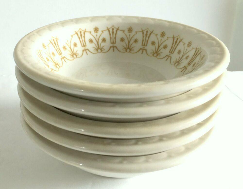 Syracuse Restaurant Ware 5 Dessert Bowls 4 5 Classic Bronze Design On Ivory Euc Syracuse Restaura Syracuse Restaurants Bronze Design