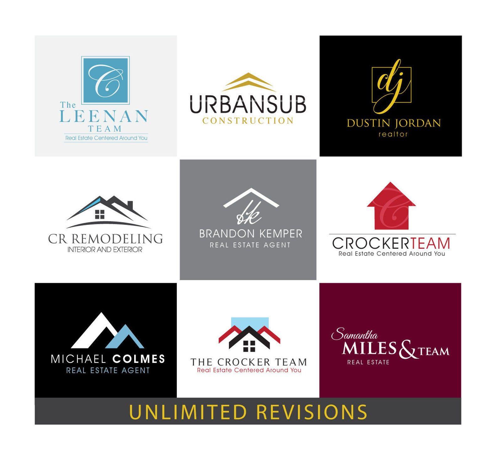 Realtor Branding Logo Design. Custom Logo Design. Real