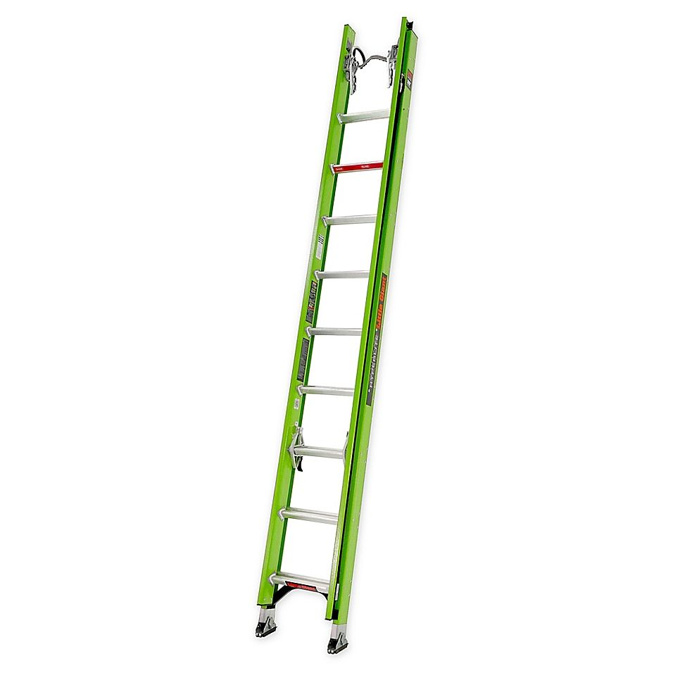 Little Giant 20 Hyperlite Type Ia Extension Ladder With Cable Hook And Pole Strap Green Little Giants Ladder Extensions
