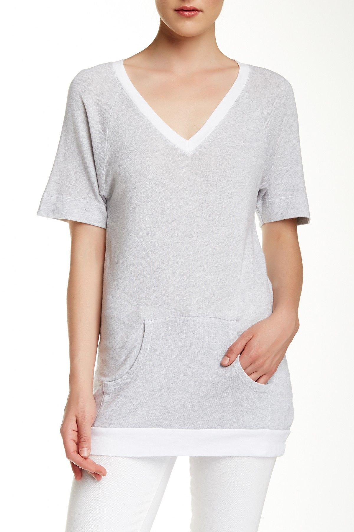 V-Neck Sweatshirt Tunic