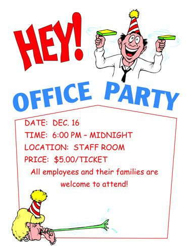 Office Party Invitations Christmas Pinterest Party - birthday template word