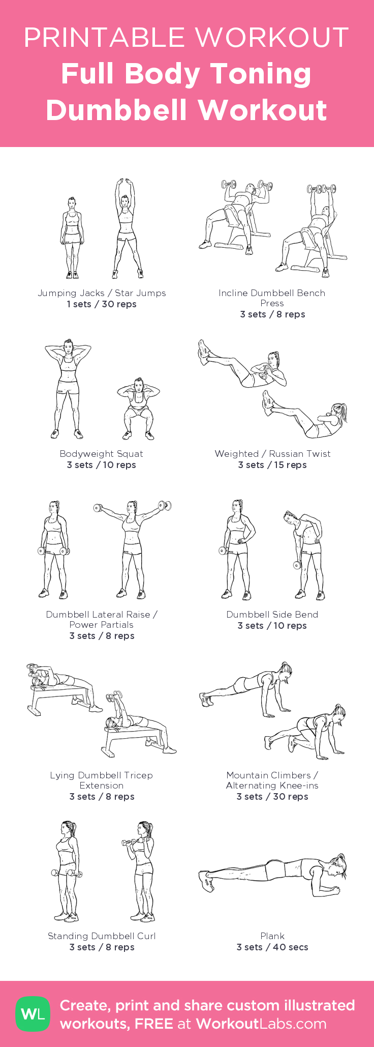 Awesome Full Body Toning Dumbbell Workout My Visual Workout Created Creativecarmelina Interior Chair Design Creativecarmelinacom