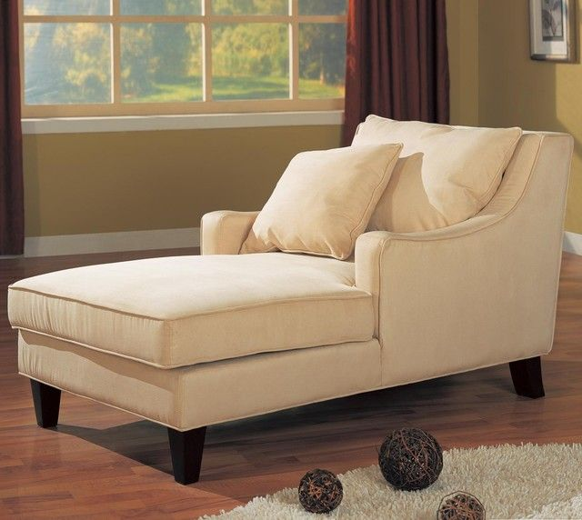 Beige Accent Seating Microfiber Chaise Lounge - Overstock™ Shopping - Big Discounts on Coaster Lounge Chairs : inexpensive chaise lounge - Sectionals, Sofas & Couches