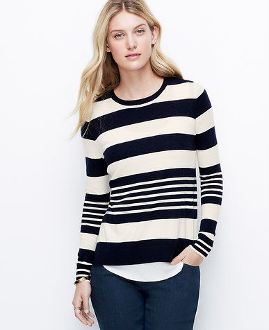 Striped Two-In-One Sweater