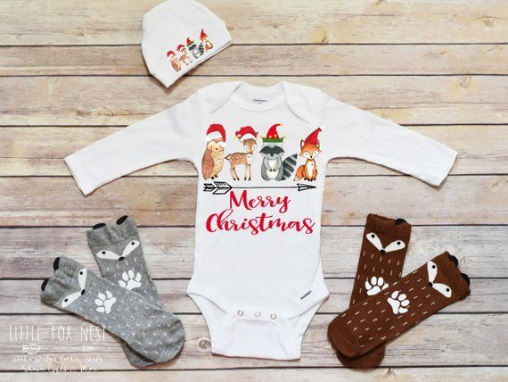 Baby Girl Christmas Outfit, First Christmas Girl, Merry Christmas