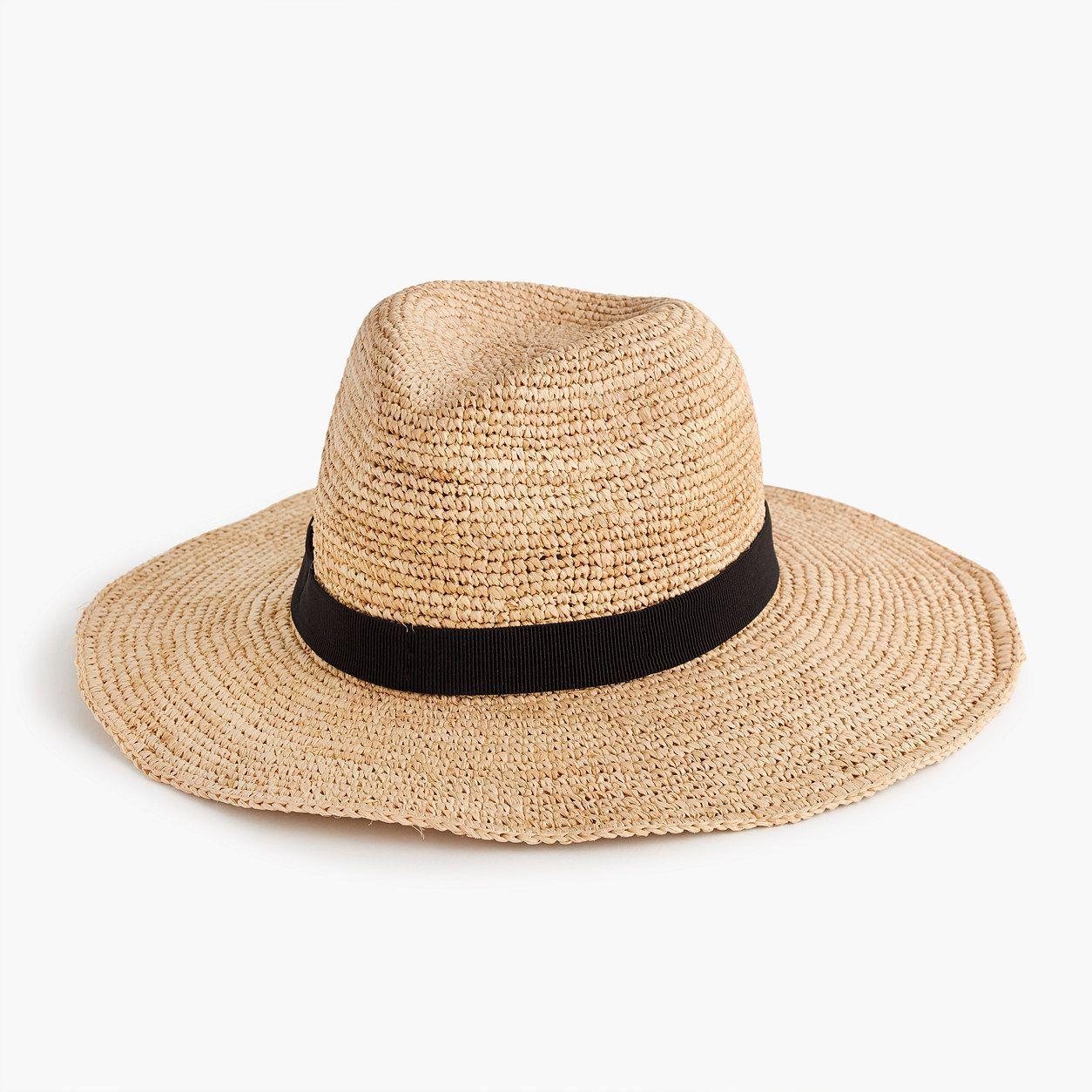 da28f91d58476 J.Crew Womens Wide-Brim Packable Straw Hat (Size M-L)