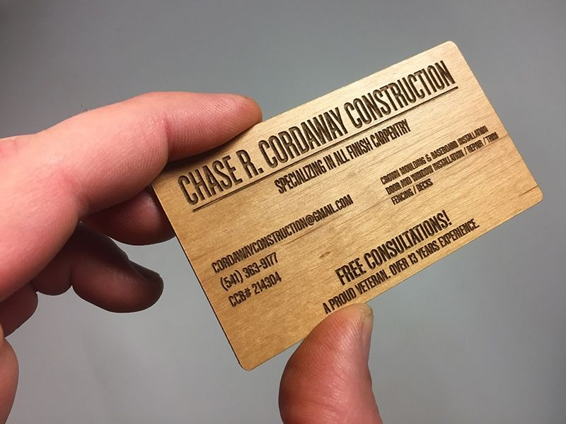 Pin by Digital Skratch on Wood Business Cards | Pinterest | Wood ...