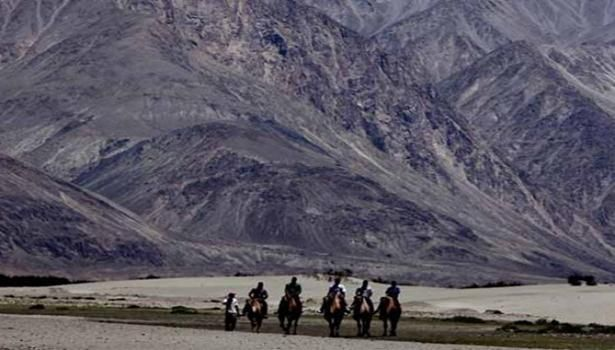 Chinese troops cross border in Ladakh again with banners