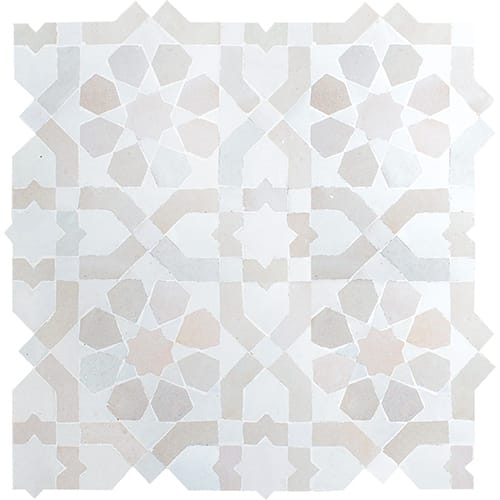 White Gray Glossy Jasmin Ceramic Mosaics 11 3 4x11 3 4 In 2020 Mosaic Ceramics Spanish Pattern