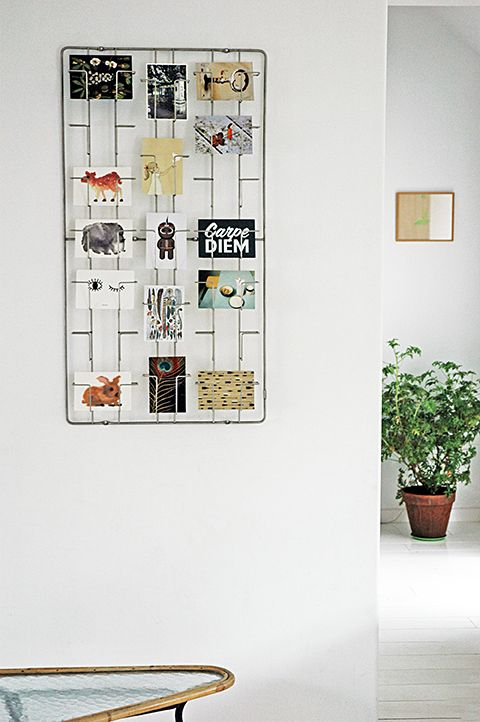 CARD FRAME, wall rack for postcard and pictures. design; Remco vand er Leij