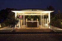 Gazebo per spa allugarden vitrum mioni roof garden pinterest