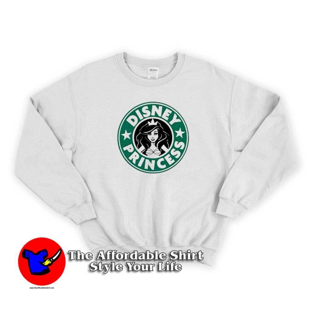 Starbucks Disney Princess Graphic Sweatshirt Theaffordableshirt Sweatshirts Graphic Sweatshirt Unisex Sweatshirt [ 1024 x 1024 Pixel ]