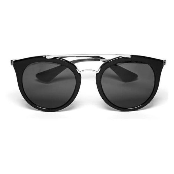 8137fd167070e Prada Women s Cinema Sunglasses - Gunmetal Black ( 325) ❤ liked on Polyvore  featuring accessories