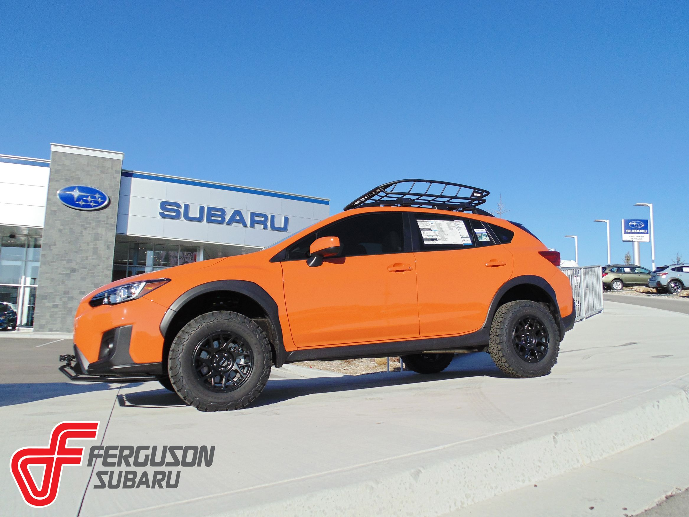 Bring Some Extra Sunshine Into Your Life With This Lifted 2018 Crosstrek Orange Lifted Crosstrek Subaru Crosstrek Subaru Subaru Outback