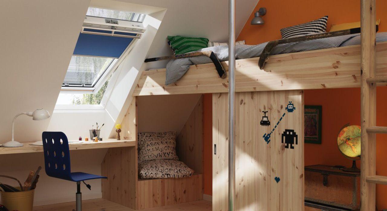 Kinderzimmer mit VELUX Fenster   Kinderzimmer   Pinterest   Velux ...