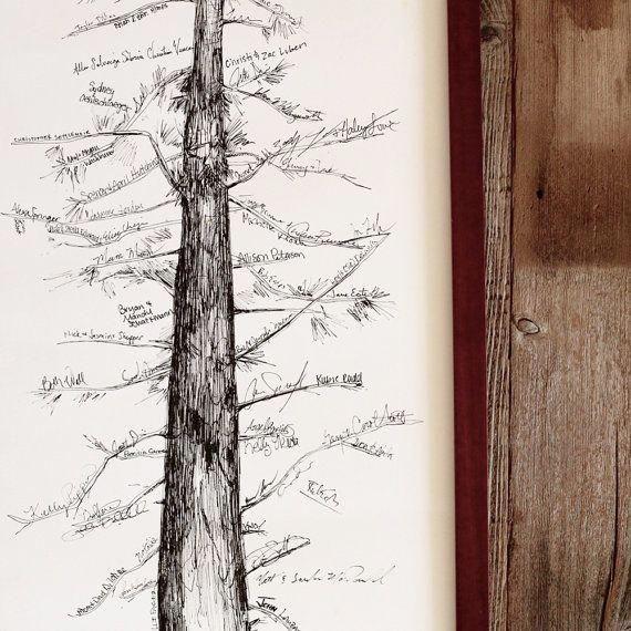 Interactive Wedding Ideas: Wedding Guest Book Ideas: Creative Pine Tree Guestbook