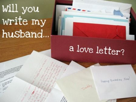 Why I Asked  People To Write My Husband A Love Letter  Frugal