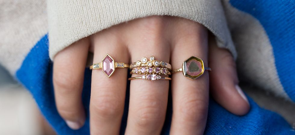 Rings By Audrey Rose With Images Black Diamond Halo Ring
