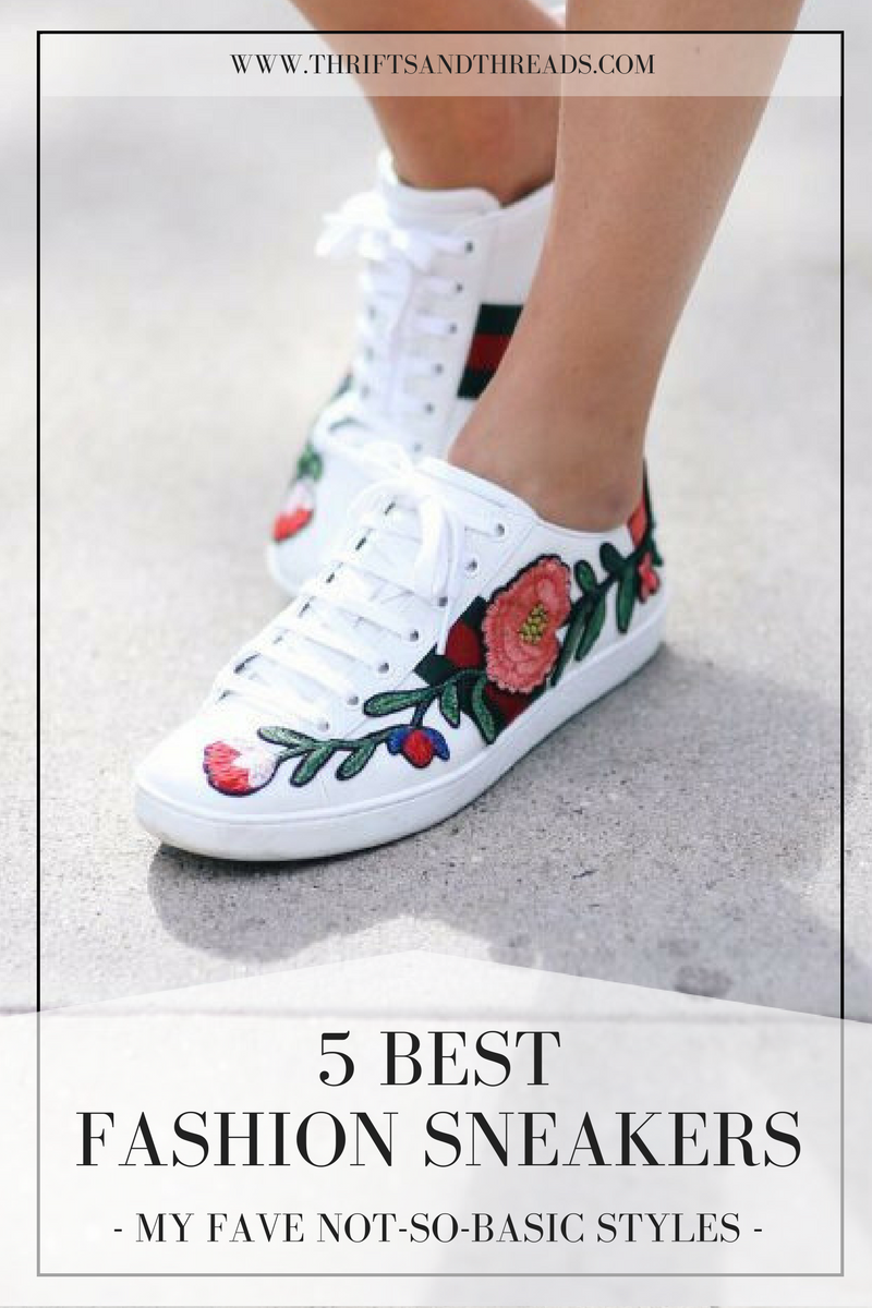 Top 5 Not So Basic Sneakers Floral Sneakers Gucci Ace Sneakers City Sneakers