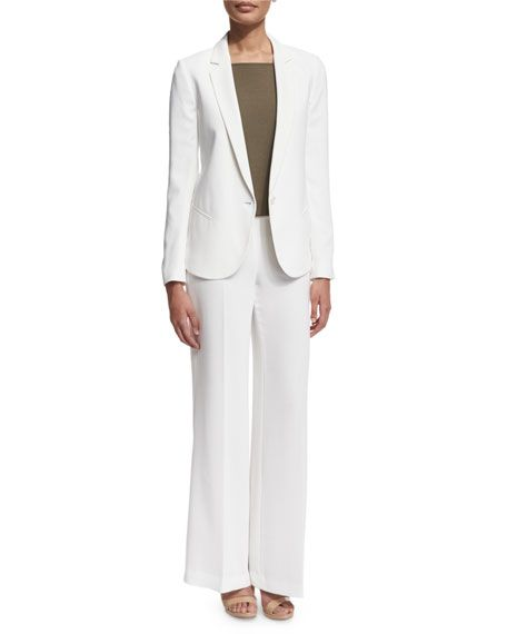 f5bfcef8608 THEORY Robiva Admiral Crepe Jacket, Cream. #theory #cloth #   Theory ...