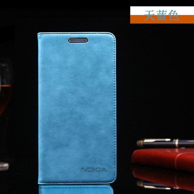 save off b891b 5ea6e High quality 8 colors Nokia 8 original genuine leather flip case ...
