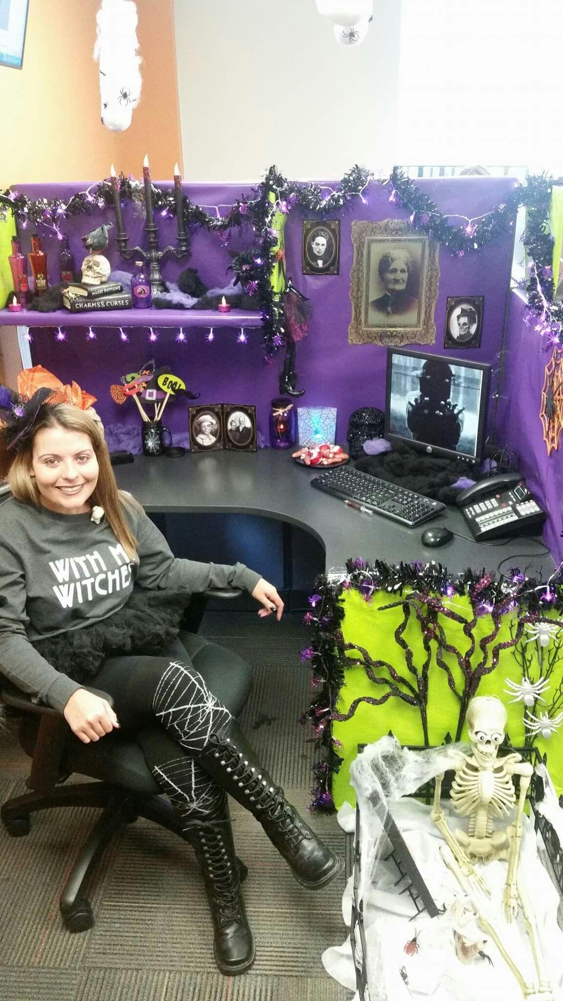 Drap black orange purple green fabric | Halloween | Pinterest