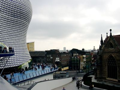 This Is Pretty Much The View From The Starbucks At The Bullring In Birmingham England Love The Juxtaposition Of The Old A Places To Travel Building Cathedral