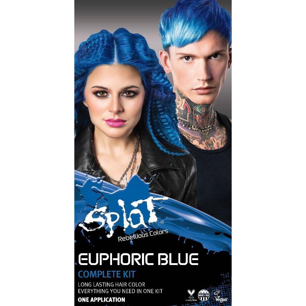 Splat Hair Color Kit 10 28 Fl Oz Euphoric Blue In 2020 Splat Hair Color Hair Color Lasting Hair Color