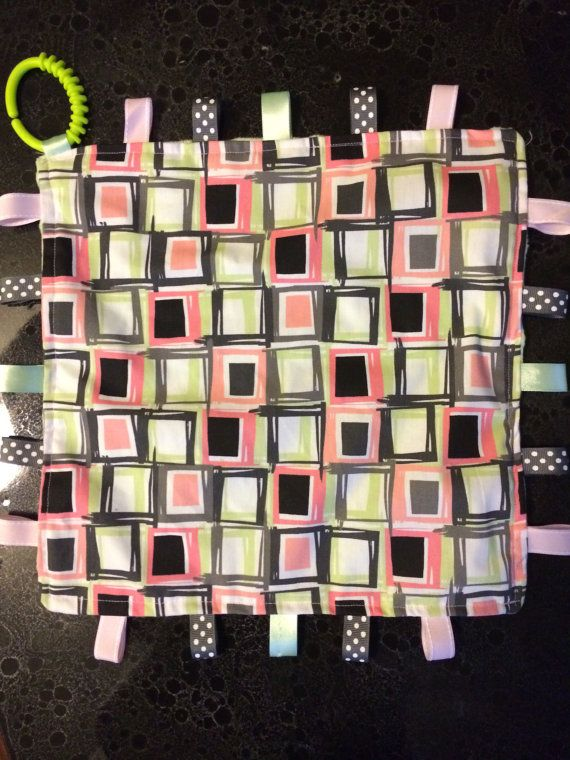 Cute little tag blanket. Great for babies sensory!