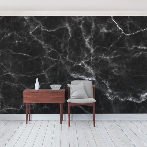 East Urban Home Nero Carrara Marble 2.88m x 190cm Semi-Gloss Wallpaper Roll   Wayfair.co.uk