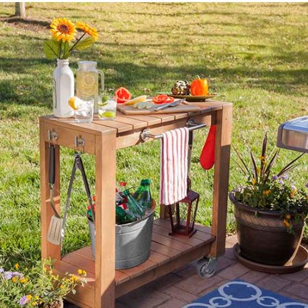 The braai cart is made using 20mm and 32mm pine and dressed up with ...