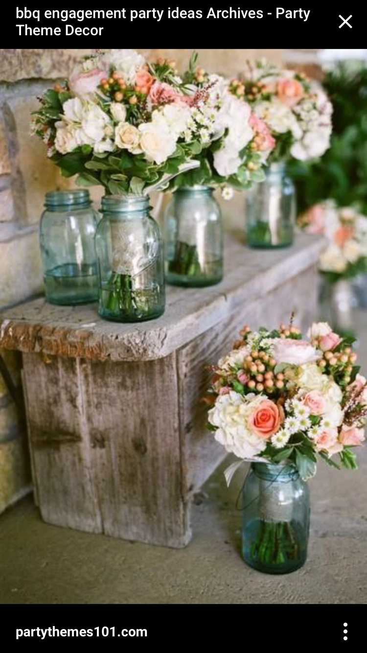 Mason jar wedding decoration ideas  Pin by Nina B on Wedding Shizzz  Pinterest  Wedding