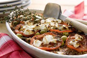 Griechischer Quinoa-Gemüseauflauf