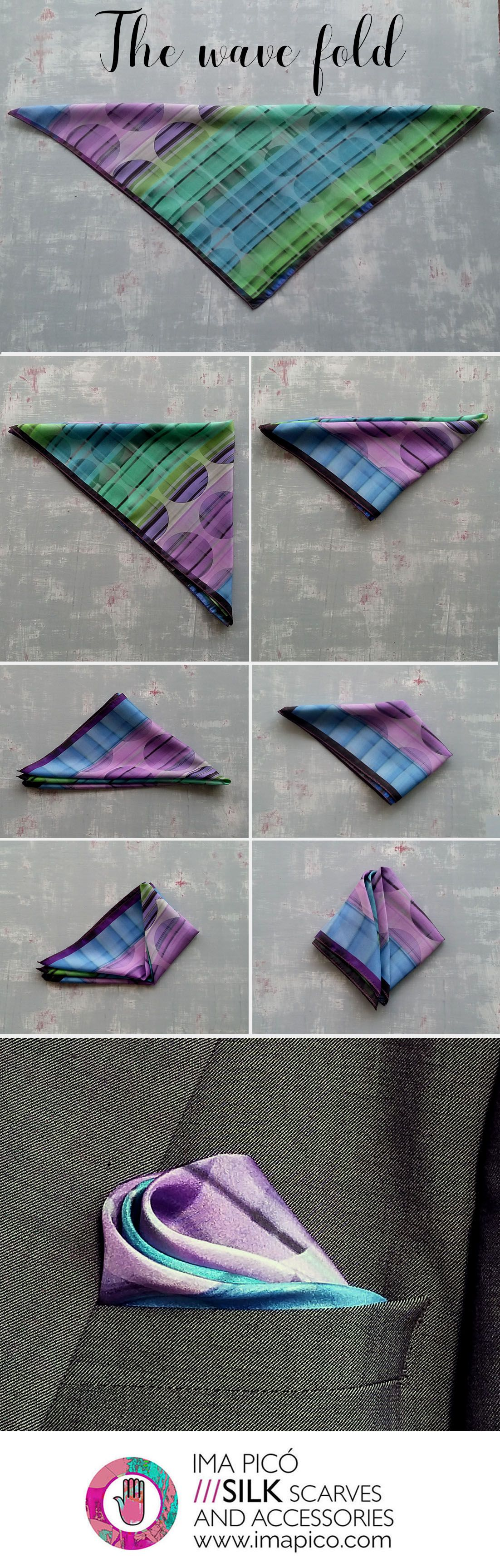 How to fold a pocket square series - The wave fold -
