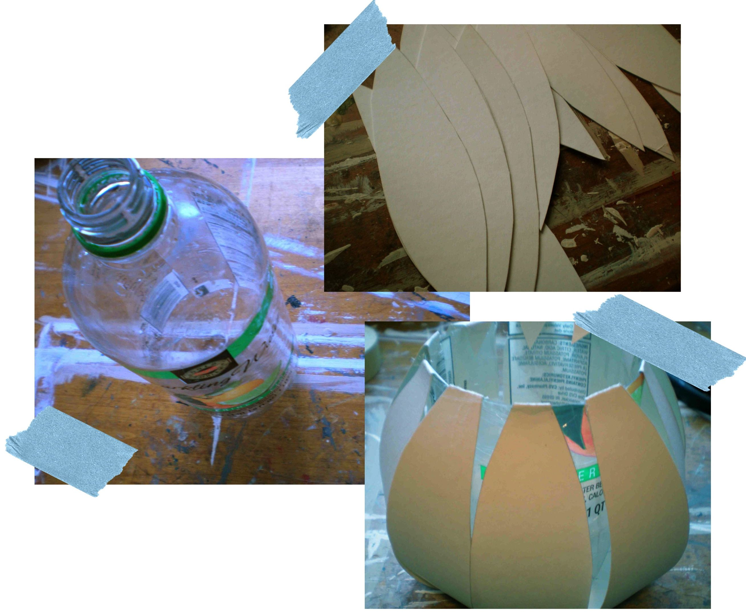 Diy with andrea paper mache vase create papier mache and paper build on mold to create a shape reviewsmspy