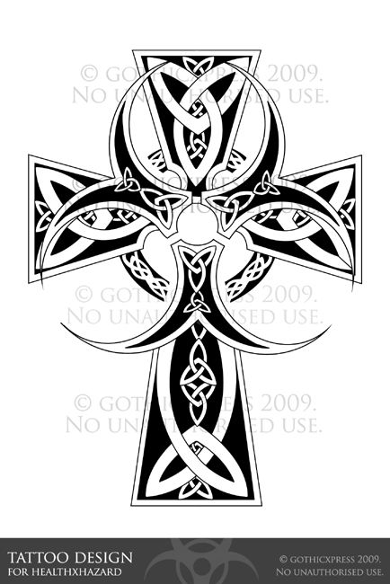 Request From She Asked For A Celtic Cross With A Biohazard Symbol