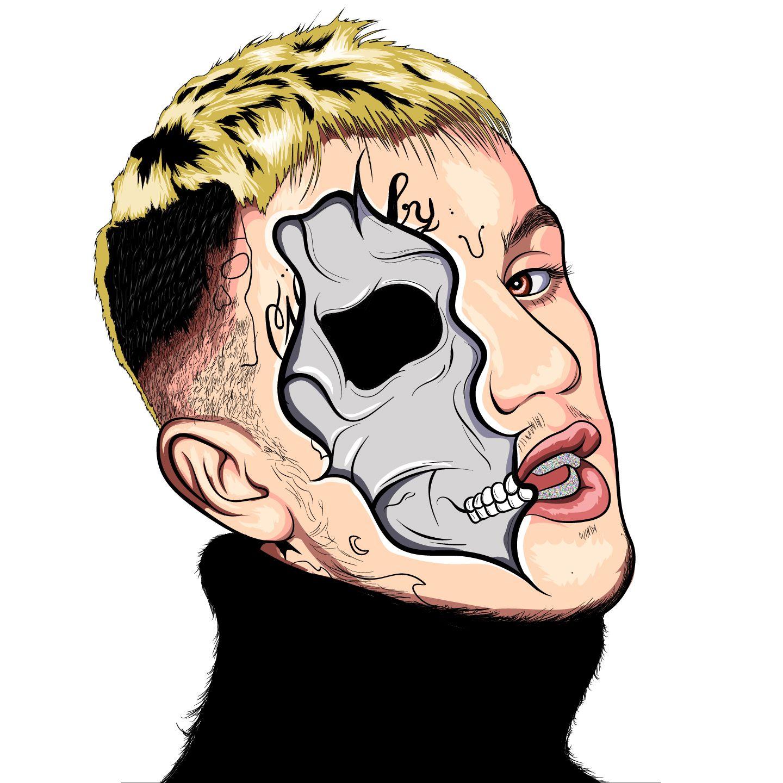 Lil Peep Cartoon By Othman_zr Rapper art