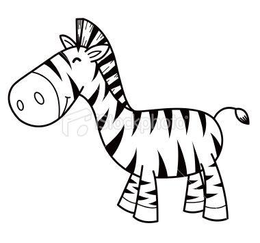 Illustration Of Cartoon Zebra On The White Zebra Cartoon Zebra Illustration