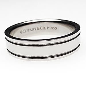 Tiffany milgrain wedding band 4mm ring in platinum Goin to the