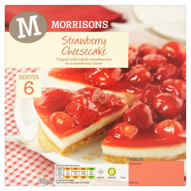 Morrisons Strawberry Cheesecake 485gProduct Information