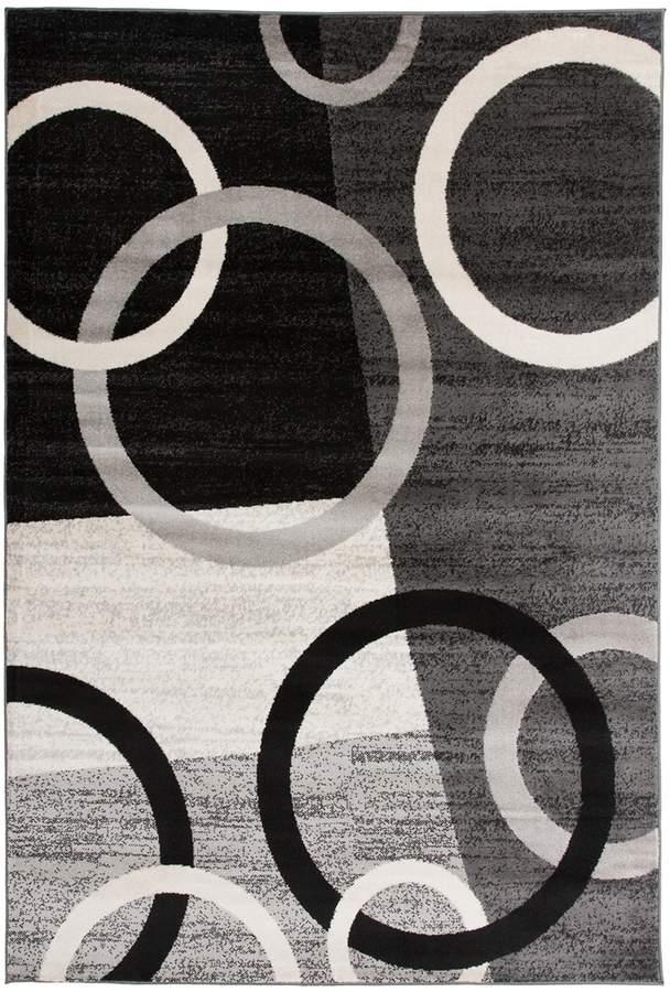 World Rug Gallery Toscana Modern Circles Shapes Rug Rugs Rugs Circle Shape Rug Size