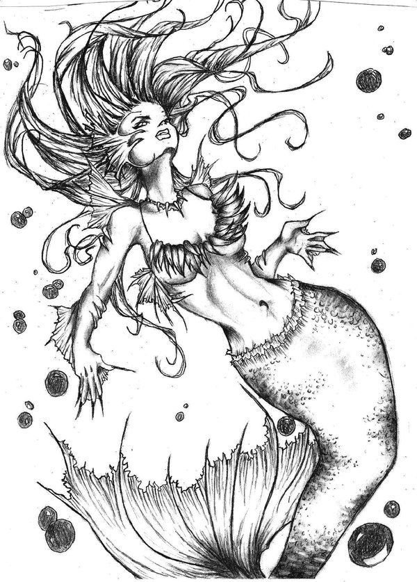 Pin By Horvath Fanni On Tattoo Evil Mermaids Mermaid Tattoo Mermaid Tattoos
