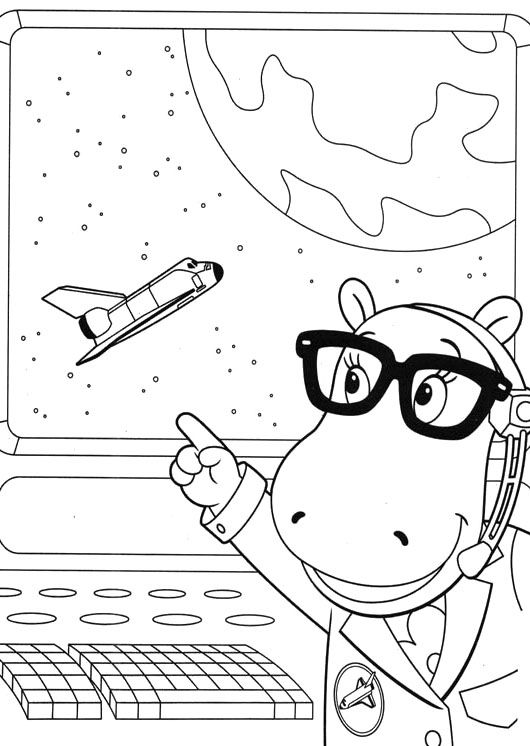 Backyardigans Tasha Pointed The Plane Coloring Pages | Maddox ...